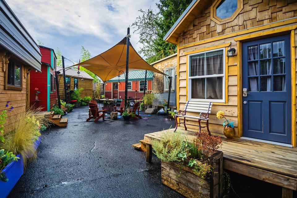 tiny house hotel. the first tiny house hotel ever i