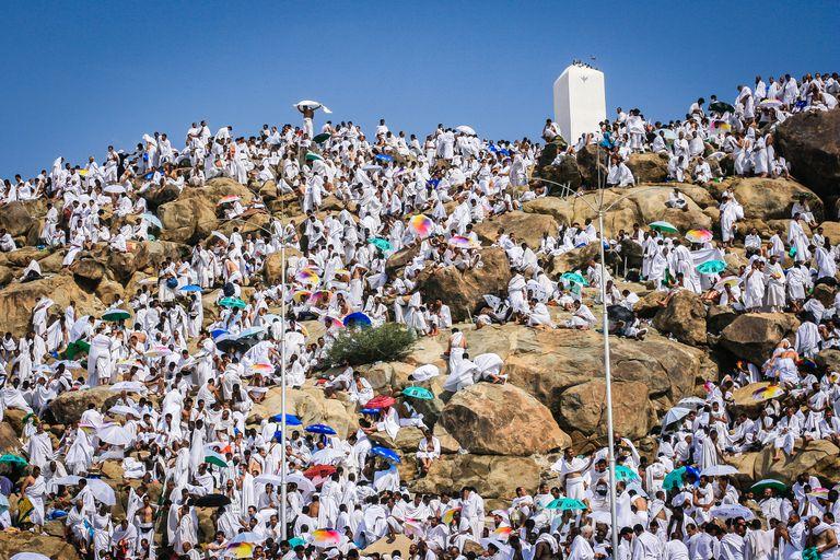 Mount Arafat during Hajj