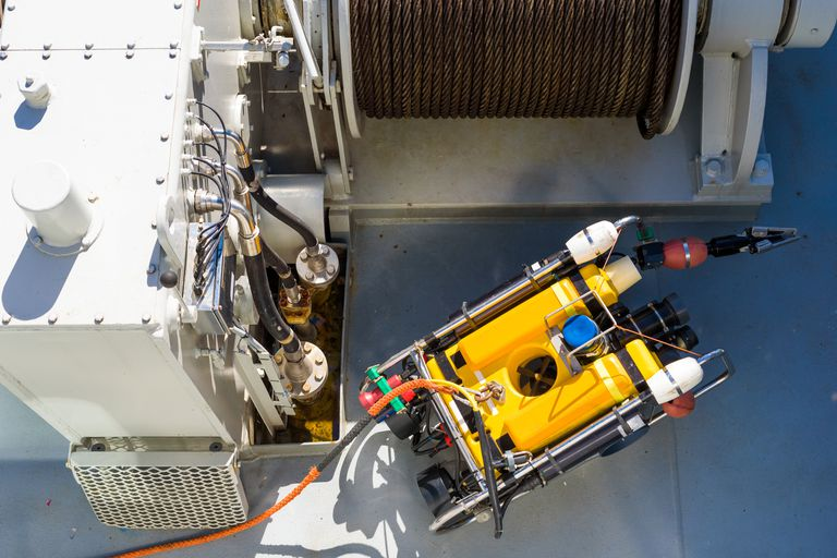 Remote Operated Vehicles (ROVs) are cheaper and safer than human deep sea exploration.