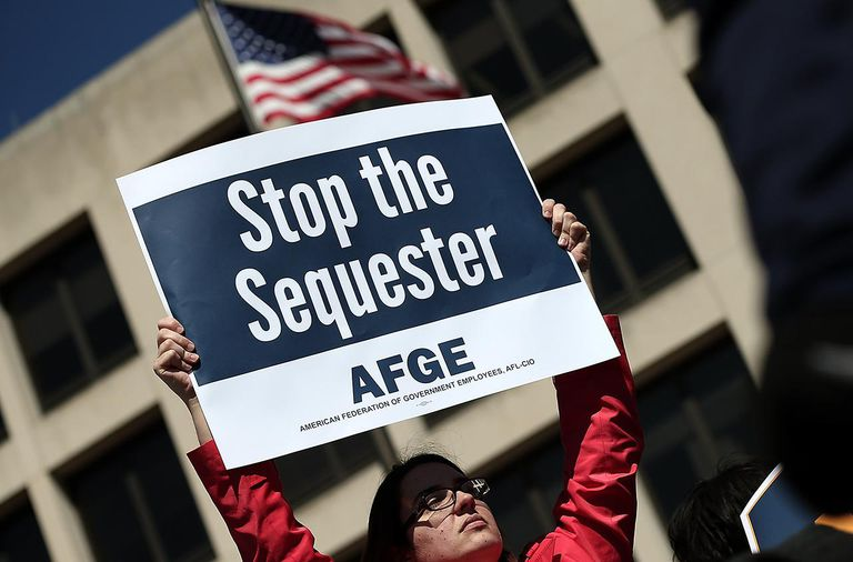 Federal Employees Protest Sequestration At Dep't Of Labor