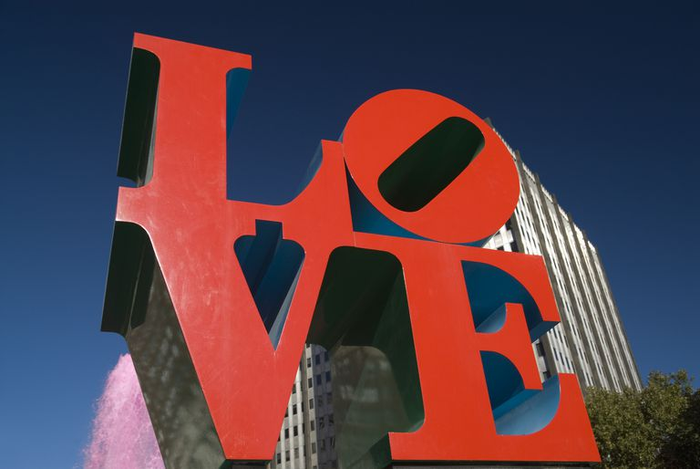 Love sculpture in Philadelphia, PA.
