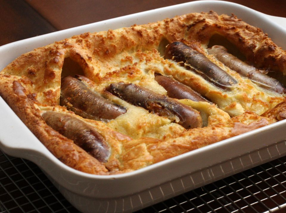 Toad in the Hole with Andouille Sausages