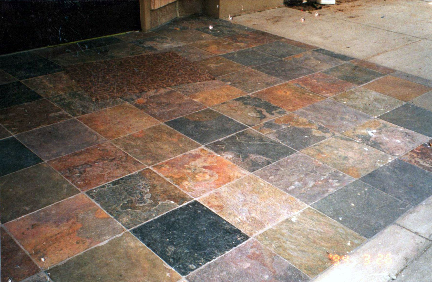 Natural slate floor tile natural slate using tile dealers versus chain hardware stores kitchen floors doublecrazyfo Images