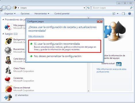 Juegos en Windows 7