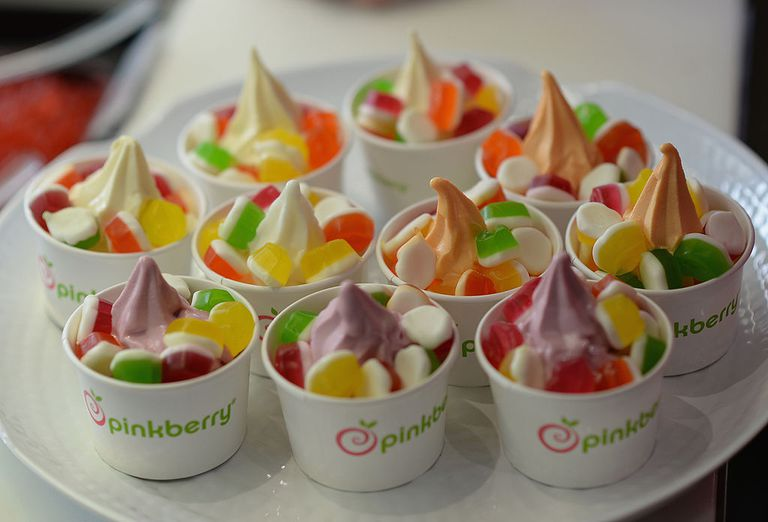 A general view of atmosphere as tennis star Maria Sharapova unveils Sugarpova Toppings exclusively for Pinkberry at Pinkberry on February 27, 2014 in Los Angeles, California.