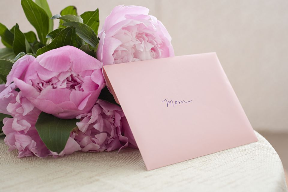 Mother's Day card and flowers