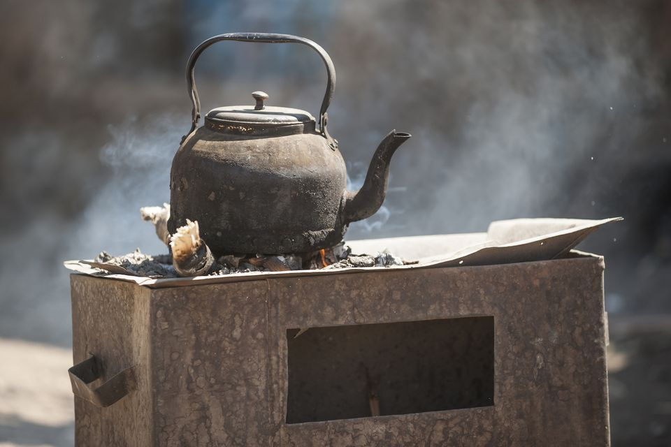 Ethiopia, Coffee kettle on stove