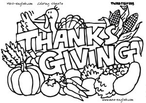 mes english thanksgiving coloring pages - Thanksgiving Pages To Color For Free