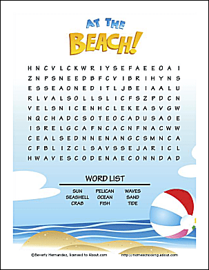 Summer Word Searches and Summer Word Puzzles | Woo! Jr ...