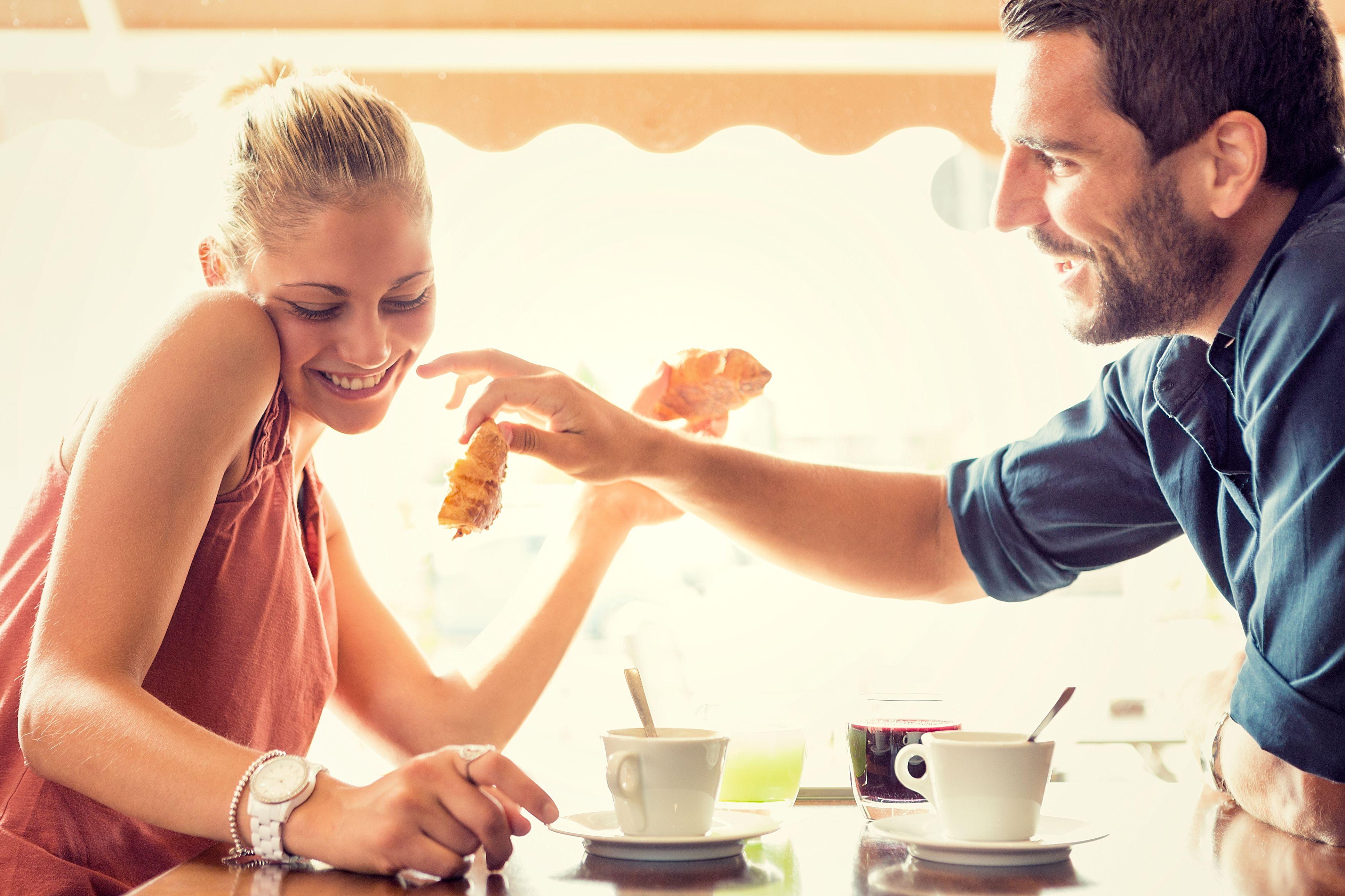 flirting on a first date