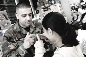 New Yorkers Head to Armed Forces Recruitment Center in Times Square