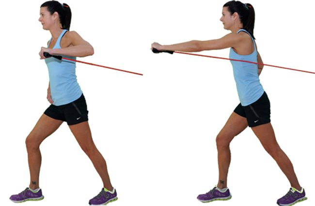 One Arm Chest Press Band