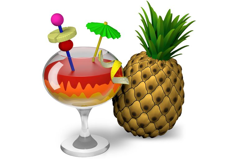 HandBrake icon with pineapple and tropical drink