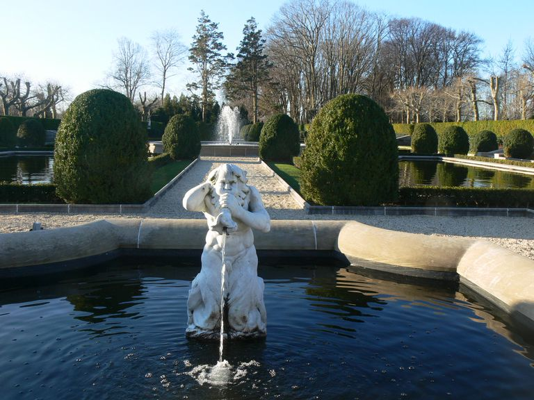 Grounds of Oheka Castle on Long Island, New York