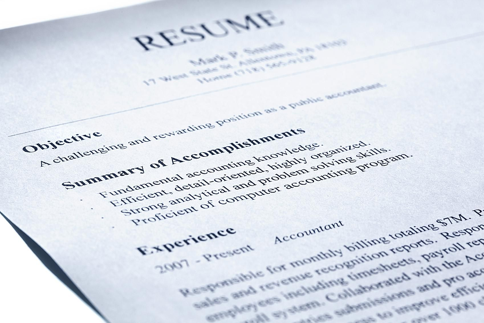what does an it technician resume and summary statement look like - Summary In A Resume Example