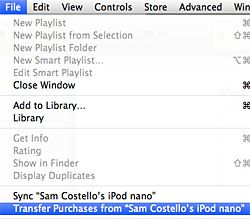 how to move from ipod to itunes library