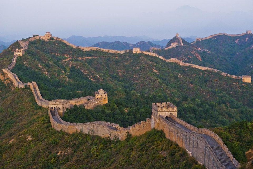 Sunrise at The Great Wall. China