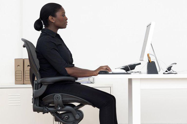 Correct seated posture.