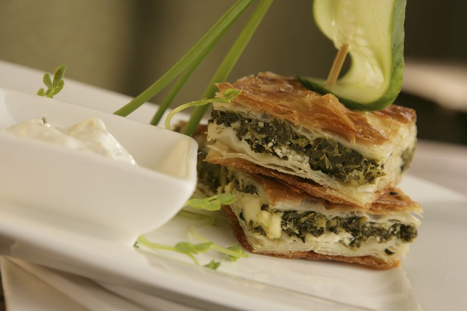 Greek Spinach Pie with Feta Cheese Spanakopita Recipe