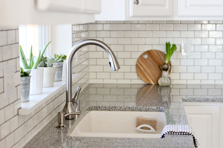 DIY Subway Tiles Kitchen Backsplash