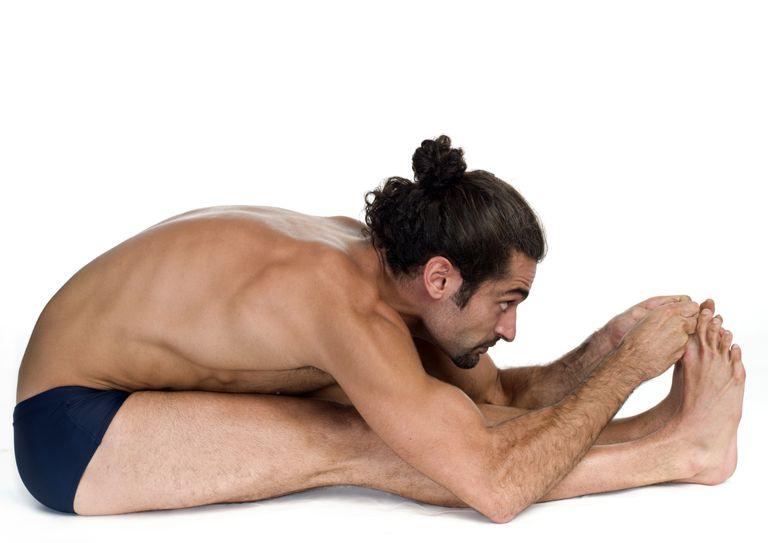 Bikram Hot Yoga Paschimotthanasana position