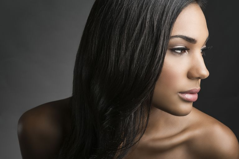 A sleek look like this can be achieved with a keratin treatment.