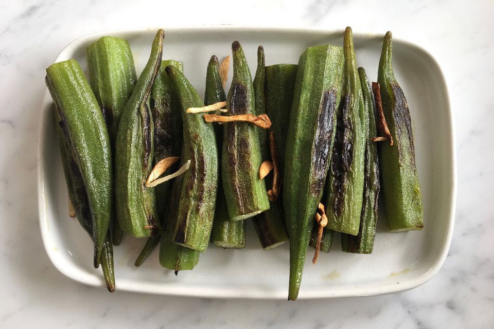 Okra with Garlic