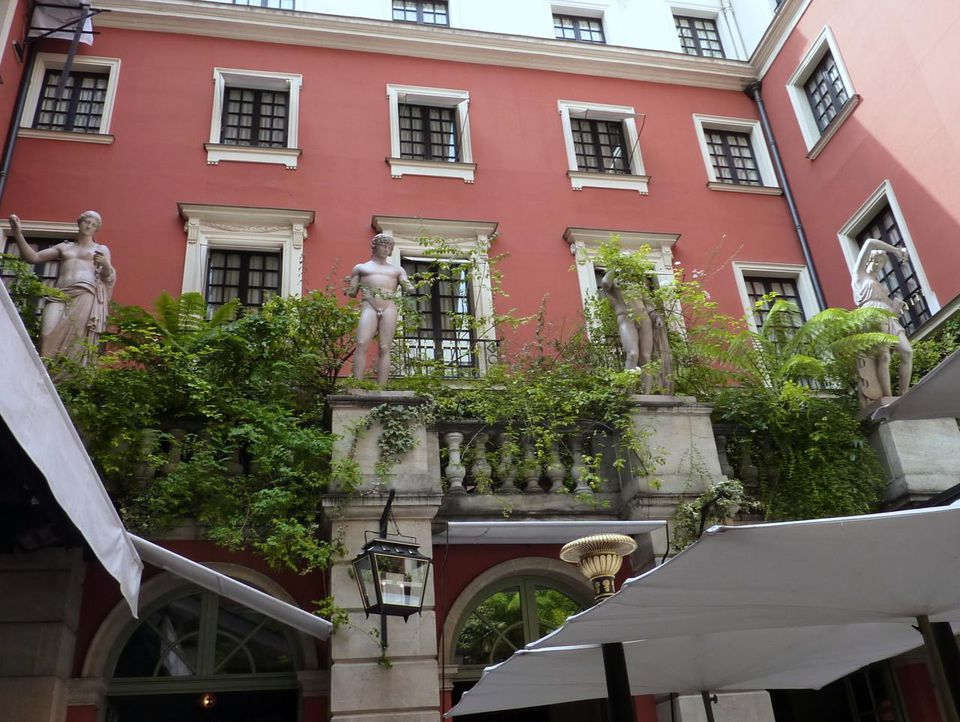 The chic neo-Baroque courtyard at the Costes.