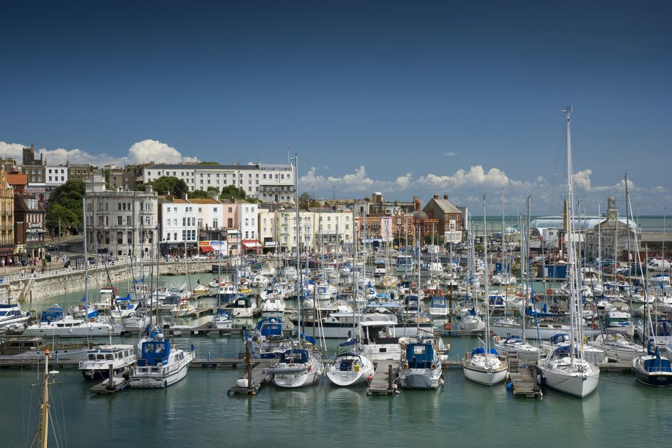 Boats in the marina at Ramsgate on the Isle of Thanet in Kent., Ramsgate, Kent, England. Additional Credit: Thanet District Council