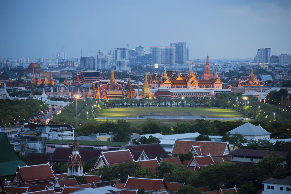 Sanam Luang, the site of the Royal Ploughing Ceremony in Bangkok, Thailand