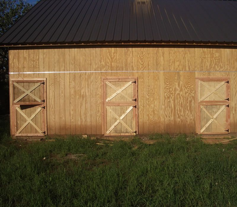 Three Sets of Barn Doors