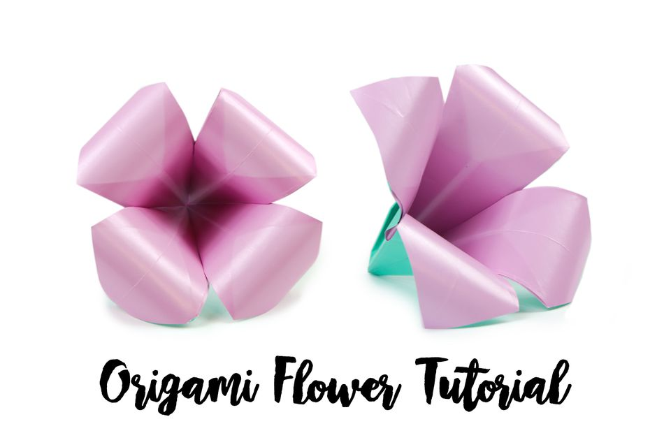 Origami for kids how to make a flower