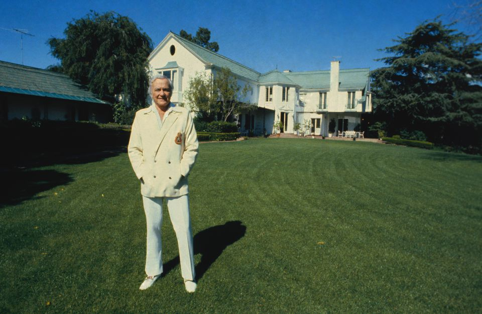 Buddy Rogers on Lawn at His Estate