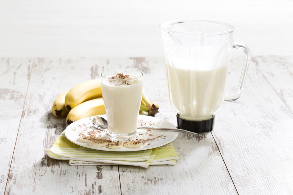 Boozy Banana Split Milkshake Recipe
