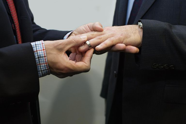 common arguments against gay marriage man putting wedding ring on another man s finger