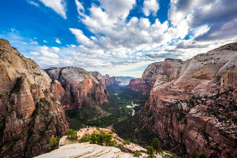 'Sandstone cliffs of Angels Landing, Zion National Park'