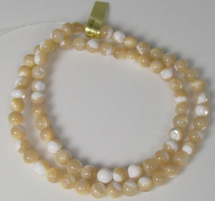Mother of Pearl Beads - Natural Colored