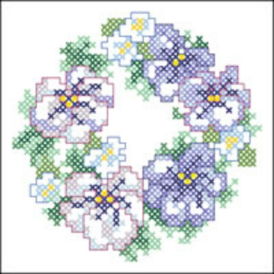 15 floral wreath cross stitch patterns