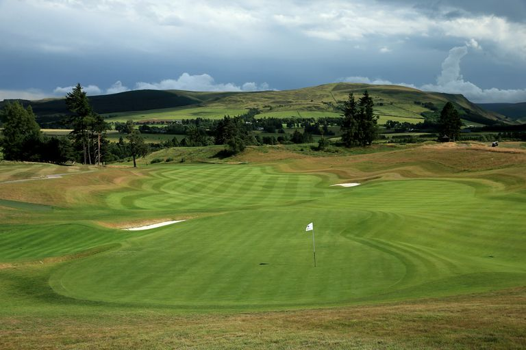 The 18th green and fairway on Gleneagles Centenary Course