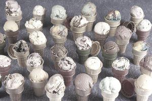A variety of ice cream cones