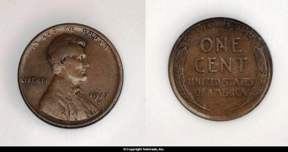 Lincoln Wheat Cent Graded Very Fine (VF20)