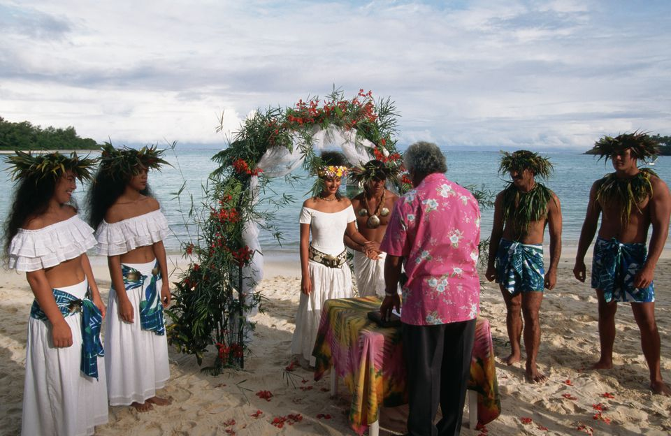 Wedding on Cook Islands