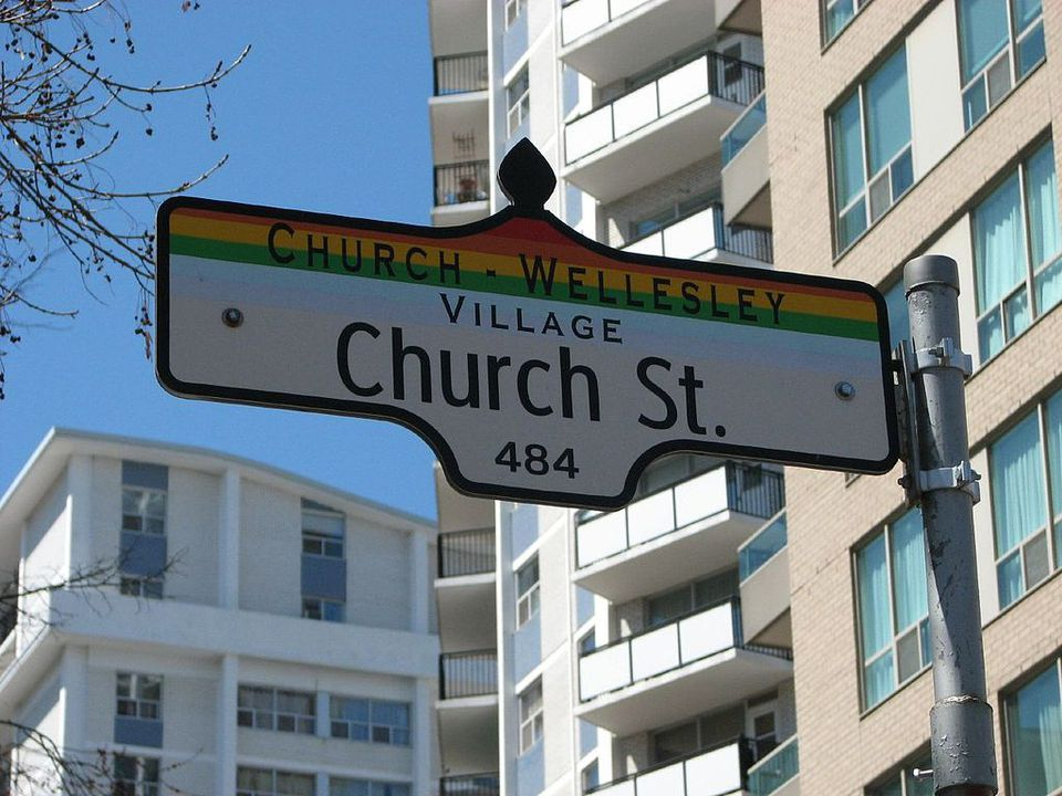 Church Street sign, Toronto, Canada
