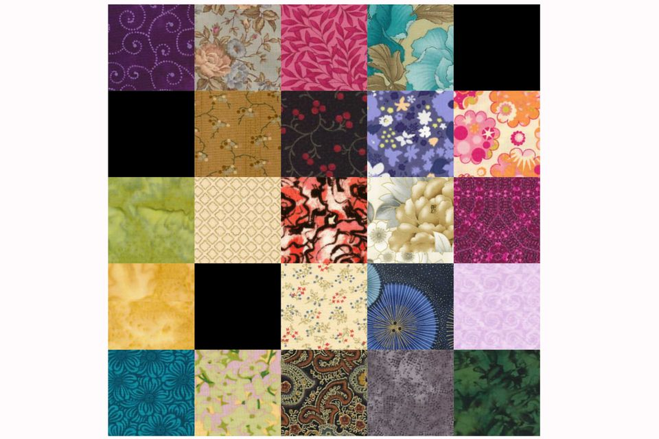 25 Patch Quilt Block Pattern