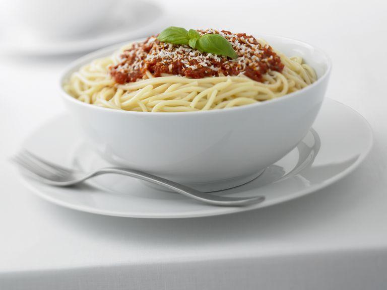 Spaghetti in Bowl