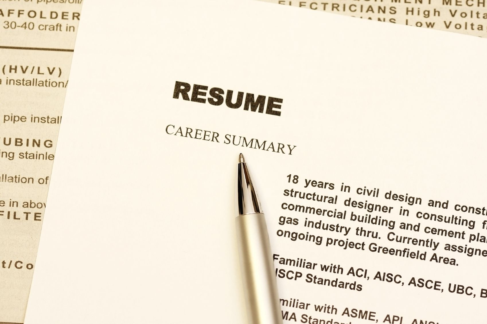 Supporting Documents for a Job Application