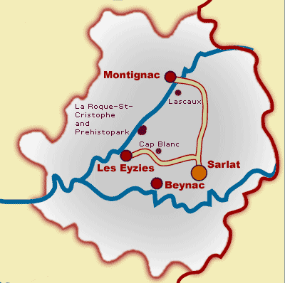 Travel Guide and Location Map for Dordogne France