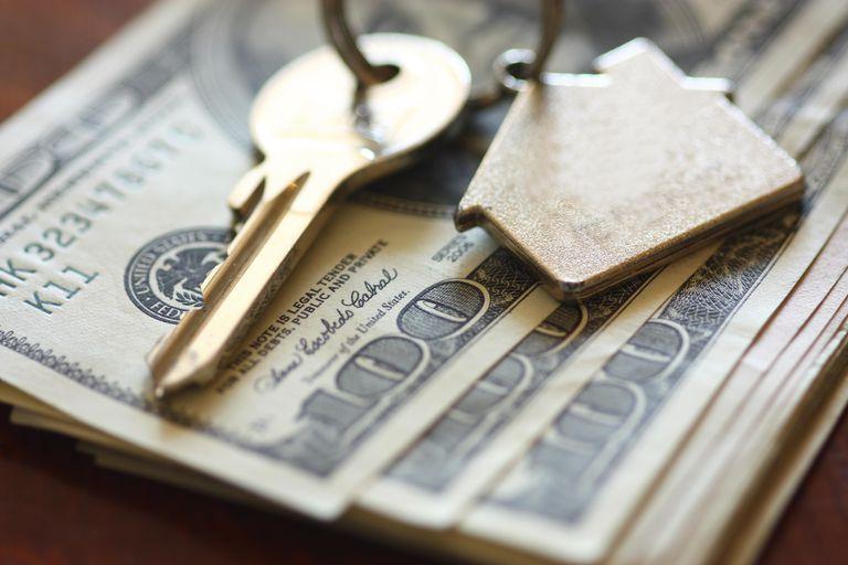 House keys on dollar