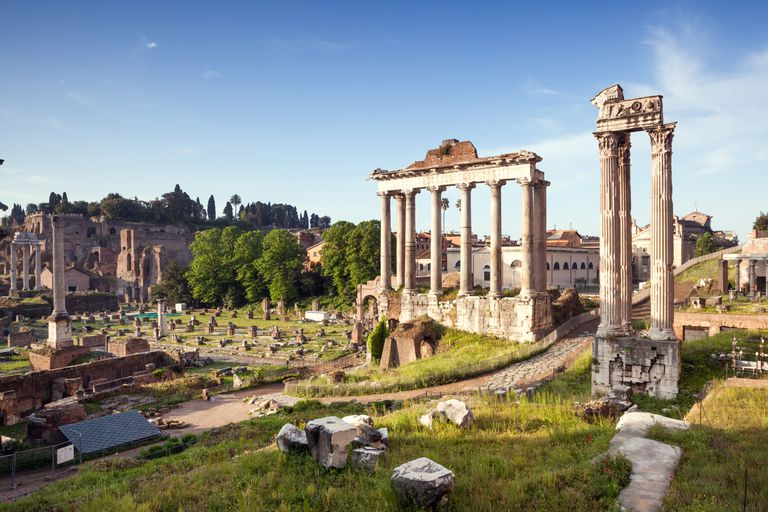 Ruins of the ancient Roman Forum.