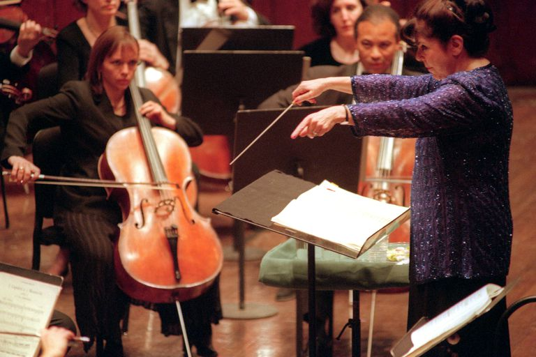 Eve Queler leading the Opera Orchestra of New York at Avery Fisher Hall,1999.